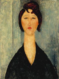 Modigliani. Portrait of a Young Woman. 1918. NOMA.