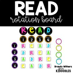 READ Rotation Board - great for a reader's workshop model.