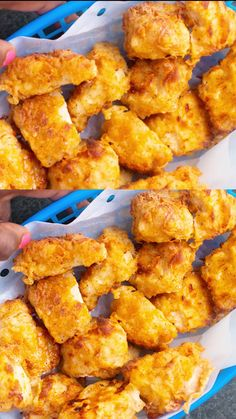 These Homemade Air Fryer Chicken Nuggets are the perfect Chic-fil-A Copycat. These nice golden pieces of juicy chicken are perfect for any weeknight meal. Toaster Oven Recipes, Air Fryer Oven Recipes, Air Frier Recipes, Air Fryer Dinner Recipes, Air Fryer Recipes Videos, Homemade Chicken Nuggets, Fried Chicken Recipes, Cooking Recipes, Healthy Recipes
