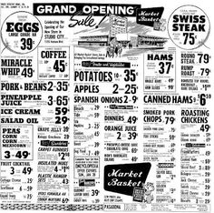 Grocery ads from January 1963.