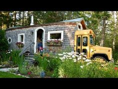WA maker turns skoolie, short-bus & container into family home - YouTube