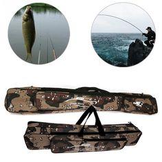 1Pcs 1.2m*15cm*12cm Fishing Rod Case Bag Waterproof Fishing Bags Case Storage Fishing Accessories Fishing Rod Case, Fishing Tools, Fish In A Bag, Fishing Accessories, Entertaining, Storage, Bags, Purse Storage, Handbags