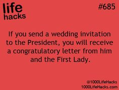 Wedding Congratulation Letter from the First Lady                                                                                                                                                                                 More