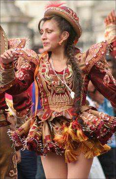 TRAJES TIPICOS DEL PERU Traditional Peruvian Dresses: Caporales (Puno)