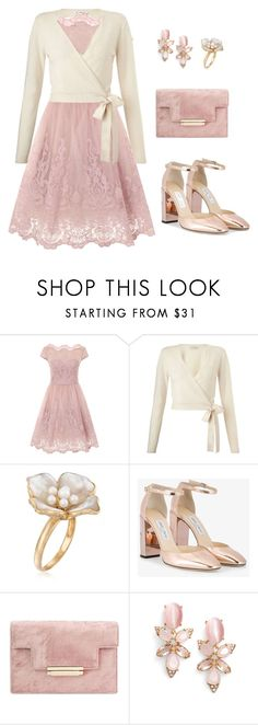 """Dress [00100]"" by myxvonwh on Polyvore featuring Chi Chi, Miss Selfridge, Ross-Simons, Jimmy Choo and Kate Spade"