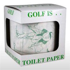 Golf Is... Golfer Jokes Toilet Paper | Free shipping offer!