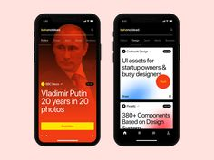 News App by bahanotdead for Craftwork Design on Dribbble Minimal Web Design, Ui Ux Design, Interface Design, User Interface, Flat Design, Restaurant Web, Ui Web, Screen Design, App Ui