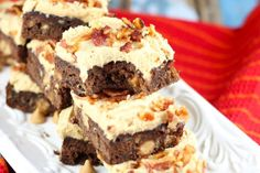Banana Brownies with Peanut Butter Frosting has a little bit of everything. Bananas, bacon, peanut butter, and even chocolate!