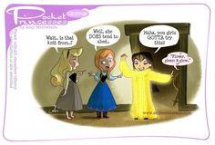 Pocket Princesses No. Yarn Stash by Amy Mebberson Disney Pixar, Disney Marvel, Disney And Dreamworks, Disney Magic, Pocket Princesses, Pocket Princess Comics, Pocket Princess Frozen, Disney Princess Cartoons, Disney Cartoons