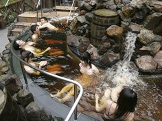 Coffee spa at Yunessun(amusement spa park) in Hakone, Japan - I know someone who I would love to go to this with 0.0 Jaymie!!!
