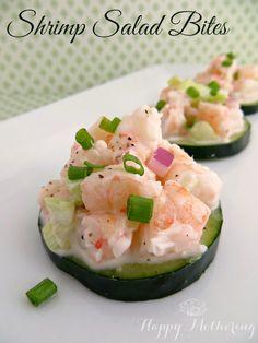 Low Carb Appetizer Recipe: Shrimp Salad Bites