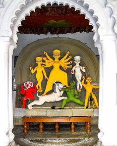 Image may contain: 4 people Durga Maa Paintings, Durga Painting, Indian Art Paintings, Bengali Art, Festival Quotes, Mata Rani, Buddhists, Durga Puja, Shiva Shakti