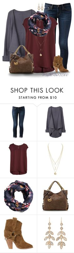 """""""Deep Thoughts--19"""" by maddierose21200 ❤ liked on Polyvore featuring AG Adriano Goldschmied, MANGO, H&M, MICHAEL Michael Kors, Étoile Isabel Marant, Irene Neuwirth, country, women's clothing, women and female"""
