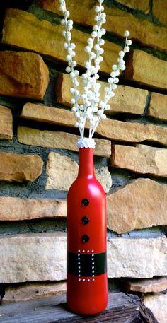 Santa Wine Bottle Décor / Cute & Classy Christmas by Hinzpirations, $17.00