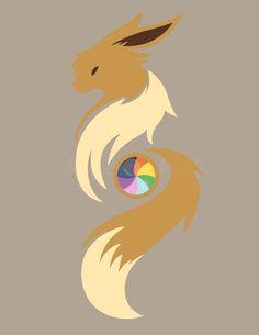 "Eevee Design from my ""Rare Candy"" design Set. (Simplistic) [OC]"