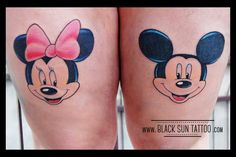 Tattoo by Black Sun Tattoo, Warsaw, Poland Mouse Tattoos, Cartoon Tattoos, Disney Tattoos, Sweet Tattoos, Word Tattoos, Black Sun Tattoo, Mickey Mouse Outfit, Warsaw Poland, Mini Mouse