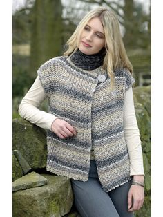 Ladies Waistcoats knit pattern from Annie's Craft Store. Order here: https://www.anniescatalog.com/detail.html?prod_id=134832&cat_id=469