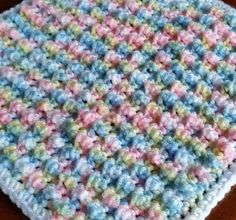 Crochet Bubble Pop stitch blanket