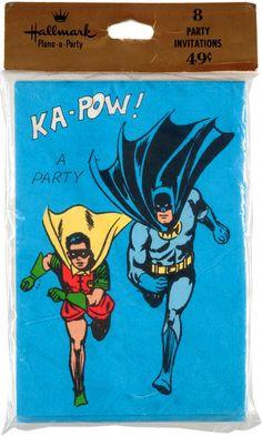 Old school Hallmark Batman party invitations