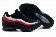 Mens - Nike Air Max 95 OG Sneakers - Black/White/Red uk online shop
