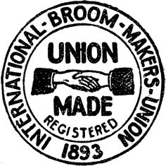 The Union Label for broommakers Vintage Logo Design, Vintage Typography, Typography Logo, Lettering, Record Label Logo, Union Logo, Circular Logo, Industry Logo, Food Industry