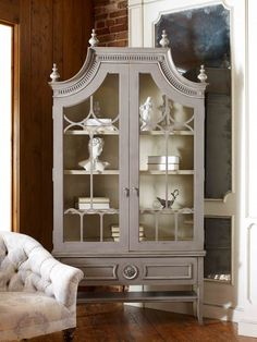 Shop for Habersham Grand Palais Display Cabinet, and other Living Room Curio Cabinets at Pala Brothers in Wilmington, DE. Habersham Furniture, Painted Furniture, Furniture Makeover, Home Furniture, Furniture Design, Dresser Makeovers, Classic Furniture, Home Decor Shops, Luxury Home Decor