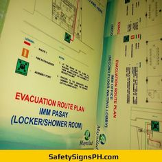 Deliver a safe and clear egress route to building occupants with our customized photoluminescent evacuation p. Evacuation Plan, Building Map, Exit Sign, Sign Printing, Free Quotes, Workplace, Philippines