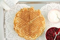 Norwegian Waffles, My Cookbook, Pancakes And Waffles, Waffle Iron, Deserts, Brunch, Food And Drink, Passion, Baking