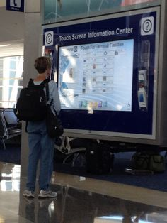 Large format touch screen @ DFW airport - offered shopping, food, and suggestions for a 5 minute walk.