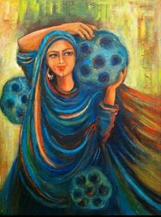 Baghdadi women with evil eye Middle Eastern Art, Arabian Art, Romance Art, Sketch Painting, Egyptian Art, Islamic Art, Art Google, Traditional Art, Art Blog