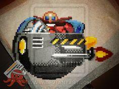 Dr. Eggman Smile Sonic perler beads by Kairi003 on deviantART