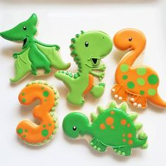 I absolutely LOVE these available from Dinosaur Cookies, Dinosaur Birthday Cakes, Dinosaur Cake, Dinosaur Party, 3rd Birthday Parties, Boy Birthday, Third Birthday, Birthday Ideas, Bolo Dino