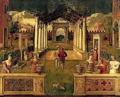 stilllifequickheart:    Bonifacio Veronese  An Architectural Capriccio in an Ornamental Garden  Early 16th century