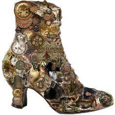 My steampunk boot..., created by #tanita-m on #polyvore. #art