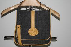 Bag Lux antracit-yellow M