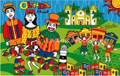 OLINDA - Brasil // Quer comprar produtos com essa ilustração? https://www.colab55.com/@monicafuchshuber