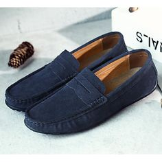 Mens Loafers Shoes, Men S Shoes, Suede Shoes, Lace Up Shoes, Music Shoes, Mens Slip Ons, Driving Shoes Men, Black And Navy, Navy Blue