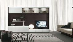 Contemporary White Black TV Wall Unit Design by Alf Da Fre #EasyPin
