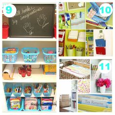 14 Affordable Organizing Ideas. Most using Dollar Store items.  Like Paper Towel Holder for Ribbon Storage, flower pots for pens/pencils.  Ziptop Bags and Pant holders for Scrapbook Papers. Kids rooms, closets, kitchen, office and even car ideas!!