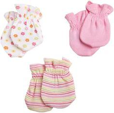Gerber Baby-Girls Newborn 3 Pack Flowers Mitten $4.95