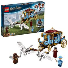 LEGO Harry Potter and The Goblet of Fire Beauxbatons' Carriage: Arrival at Hogwarts 75958 Building Kit, New 2019 Pieces). Christmas gifts for kids. Christmas and Birthday gifts for Harry Potter fans. Lego Harry Potter, Fleur Delacour, Shop Lego, Buy Lego, Legos, Modele Lego, Harry Potter Advent Calendar, Lego Hogwarts, Fans D'harry Potter