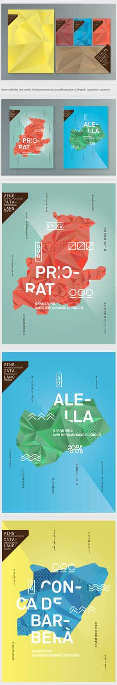 Catalan wines identity and posters by toormix , via Behance