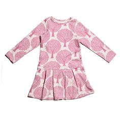 Winter Water Factory Luna Baby Dress, Pink Trees -- organic cotton, made in the USA Little Girl Fashion, Kids Fashion, Aurora Dress, Kids Outfits, Cute Outfits, Celebrity Kids, Tennis Dress, Winter Dresses, Dress Winter