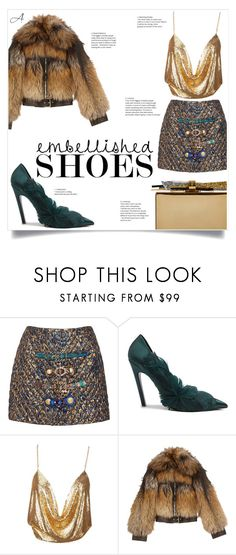 """""""Embellished"""" by andragabriela on Polyvore featuring Dolce&Gabbana, Balenciaga, Alexander McQueen and Edie Parker"""