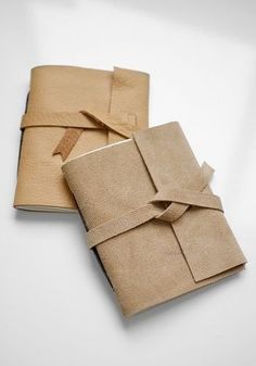 Take 10 minutes out of your day to make an awesome leather journal for someone on your holiday gift list!
