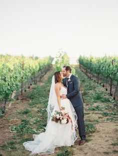 Romantic Napa vineyard wedding: Photography : Mirelle Carmichael Photography Read More on SMP: http://www.stylemepretty.com/california-weddings/napa/2016/07/21/napa-valley-cave-wedding-reception/