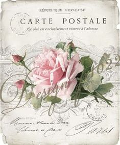 See the source image Vintage Labels, Vintage Ephemera, Vintage Cards, Vintage Paper, Vintage Postcards, Decoupage Vintage, Decoupage Art, Floral Vintage, Vintage Flowers