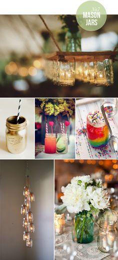 Great ideas for Mason jars
