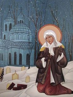 St. Xenia the Blessed Fool-for-Christ of St. Petersburg....praying about the new baby's saint