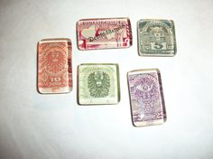 5 Postage Stamps from Austria While Under German by BadCatCraft